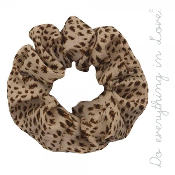 Do everything in Love brand leopard print hair scrunchie.  - One size - 100% Polyester