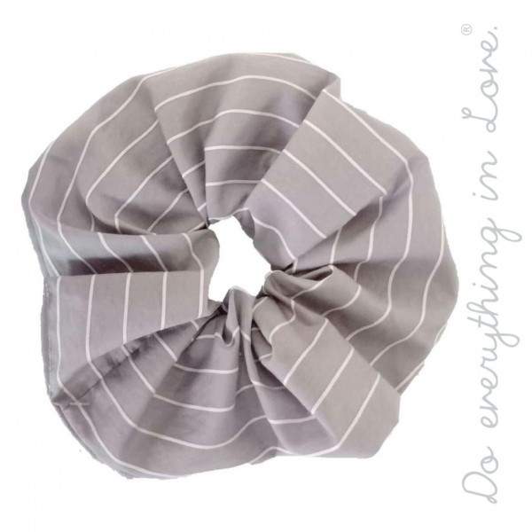 Do everything in Love brand pin stripe oversized hair scrunchie.  - One size - 100% Polyester