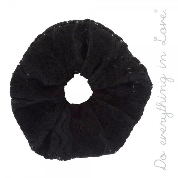 Do everything in Love brand velvet lace oversized hair scrunchie.  - One size - 100% Polyester