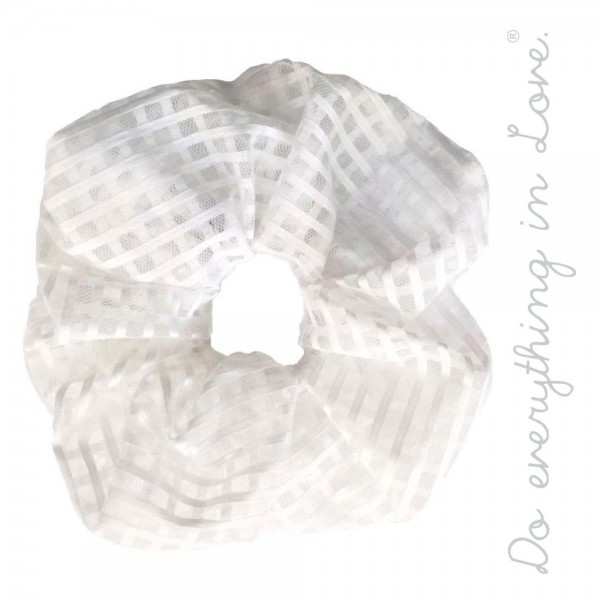 Do everything in Love brand checkered lace oversized hair scrunchie.  - One size - 100% Polyester