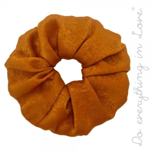 Do everything in Love brand solid silky oversized hair scrunchie.  - One size - 100% Polyester