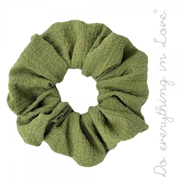 Do everything in Love brand solid crinkled hair scrunchie.  - One size - 100% Polyester