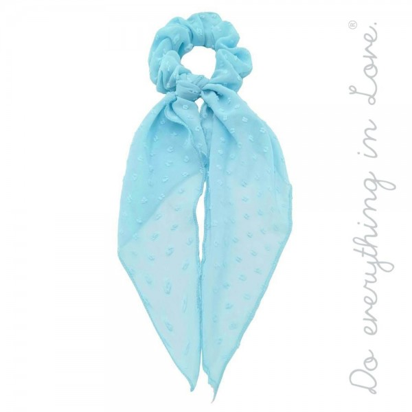 """Do everything in Love brand sheer swiss dot hair scarf scrunchie.  - One size - Approximately 12"""" L - 100% Polyester"""