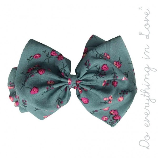 "Do everything in Love brand floral blossom hair bow barrette.  - One size  - Approximately 6"" W x 5"" L - 100% Polyester"