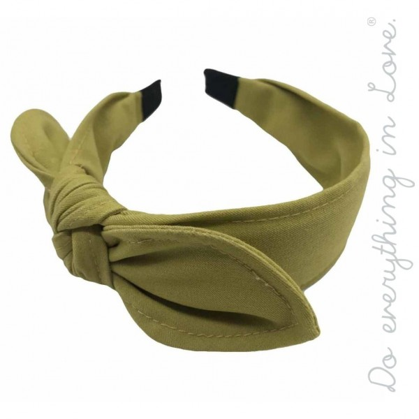 Wholesale do everything Love brand knotted bow headband One Polyester