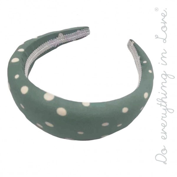 Do everything in Love brand plush polka dot headband.  - One size - 100% Polyester