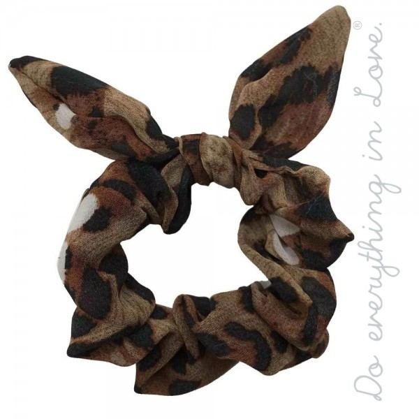 Do everything in Love brand leopard print bow scrunchie.  - One size - 100% Polyester
