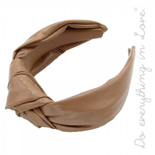 Do everything in Love brand oversized knotted PU headband.  - One size - 100% PU