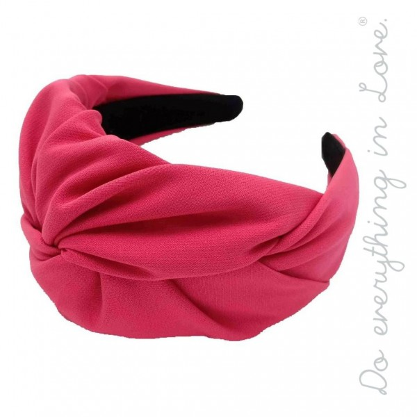 Do everything in Love brand solid twisted knotted headband.  - One size - 100% Polyester