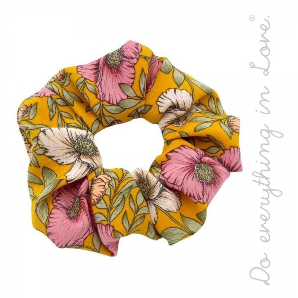 Do everything in Love brand floral hair scrunchie.  - One size  - 100% Polyester