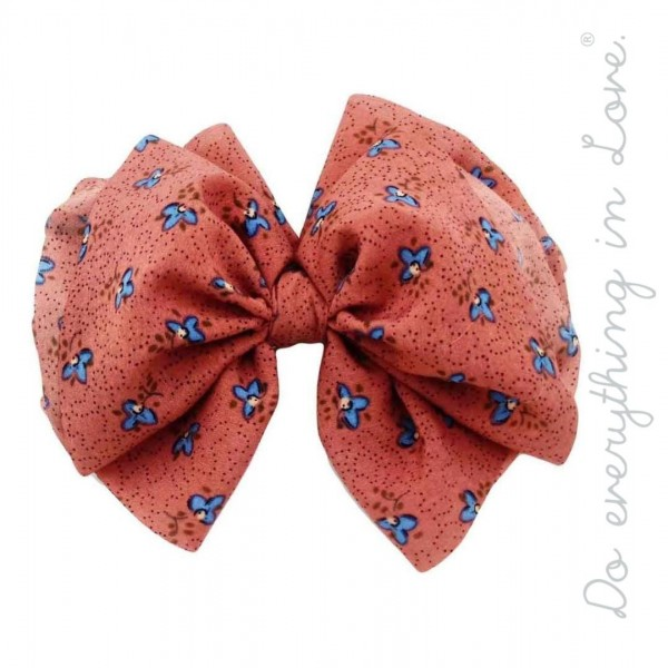 "Do everything in Love brand floral print hair bow barrette.  - One size - Approximately 6"" W x 5"" L - 100% Polyester"