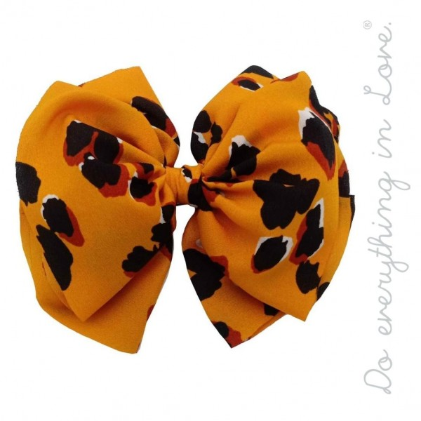 "Do everything in Love brand leopard print hair bow barrette.  - One size - Approximately 6"" W x 5"" L - 100% Polyester"