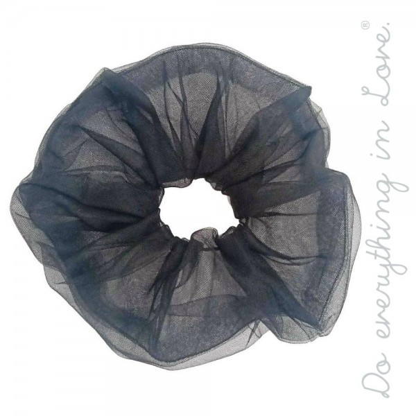 Do everything in Love brand solid sheer chiffon oversized hair scrunchie.  - One size - 100% Polyester