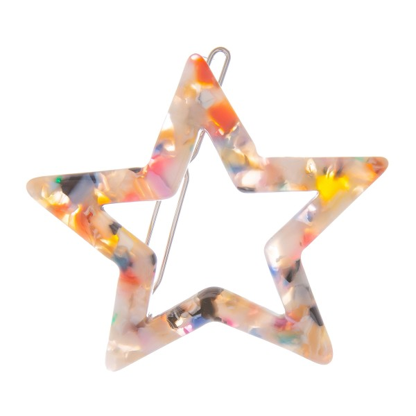 Wholesale multi Resin Star Hair Barrette