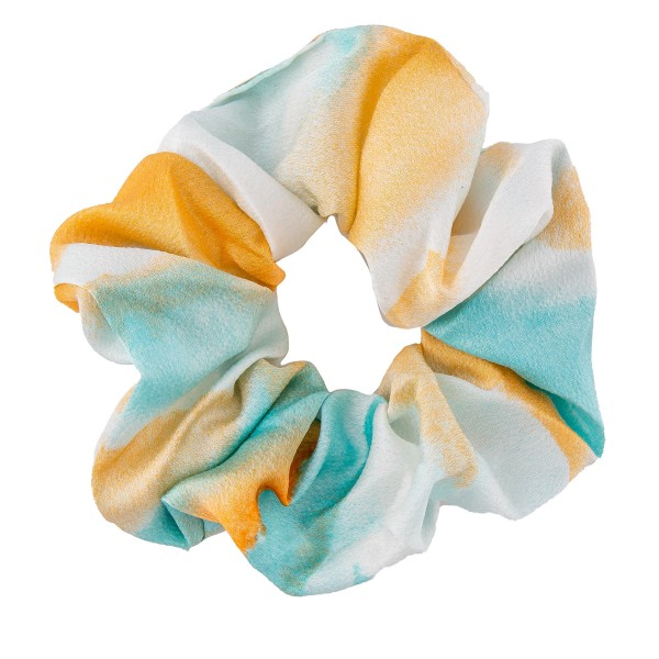 Silky Tie-Dye Hair Scrunchie.  - One size fits most - 100% Polyester