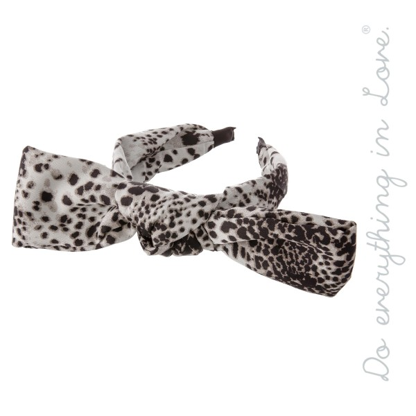 Do everything in Love Brand Knotted Leopard Print Bow Headband.  - One size fits most  - 100% Polyester