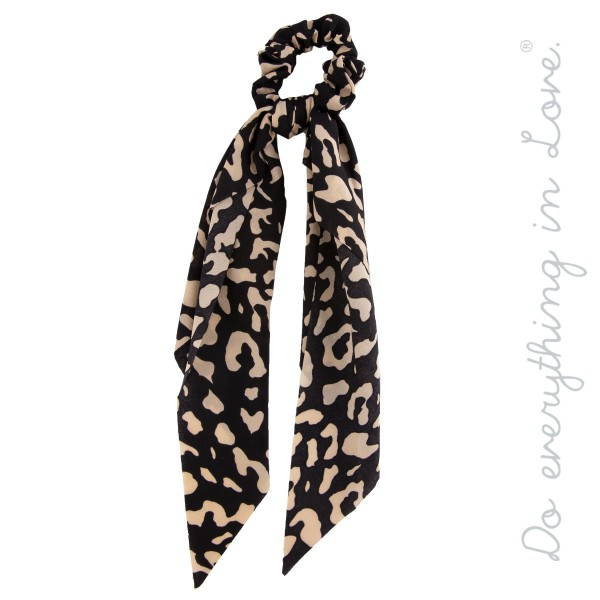 Wholesale do everything Love Brand Leopard Print Hair Scarf L Polyester
