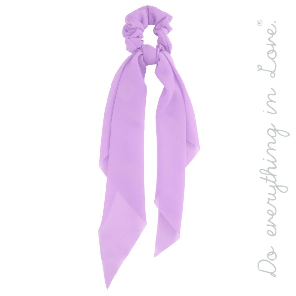 "Do everything in Love Brand Solid Color Hair Scarf.  - Approximately 12"" L  - 100% Polyester"