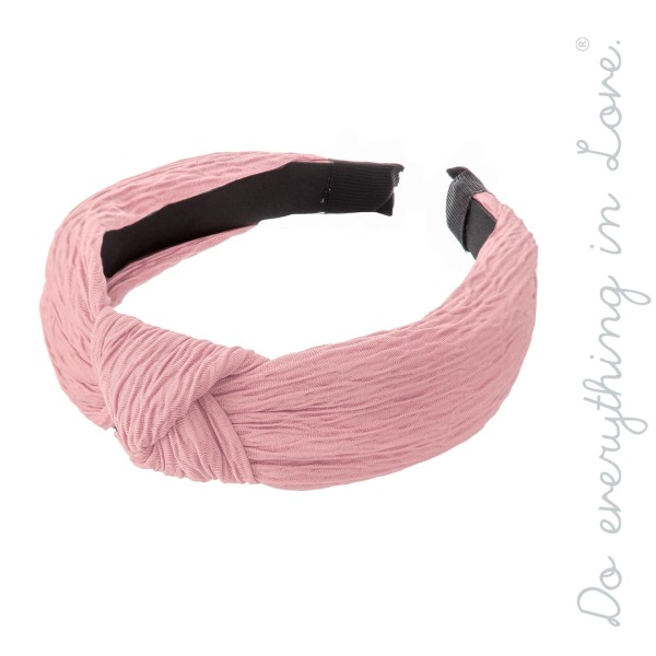 Wholesale do everything Love Brand Knotted Pleated Headband One fits most Polyes