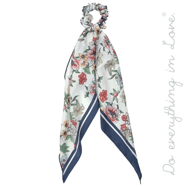 "Do everything in Love Brand Long Silky Floral Print Hair Scarf.  - Approximately 19"" L - 100% Polyester"