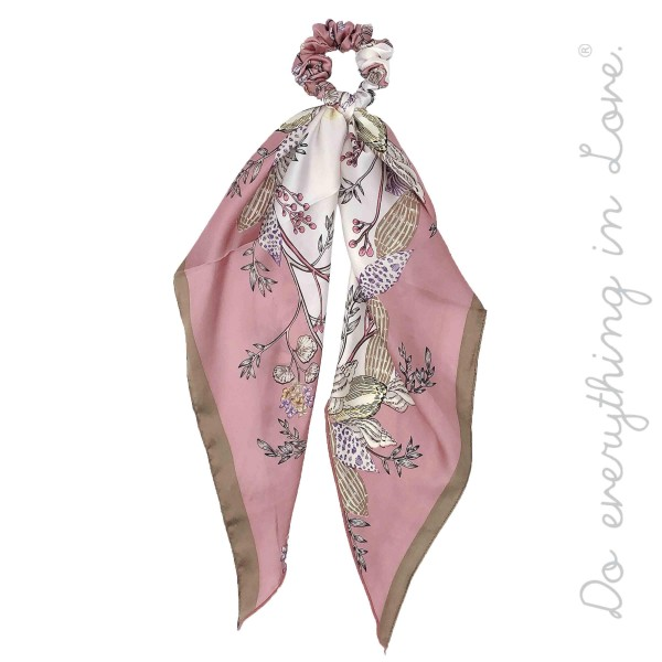 """Do everything in Love Brand Silky Blush Shell Floral Print Hair Scarf.   - One size - Approximately 20"""" L  - 100% Polyester"""