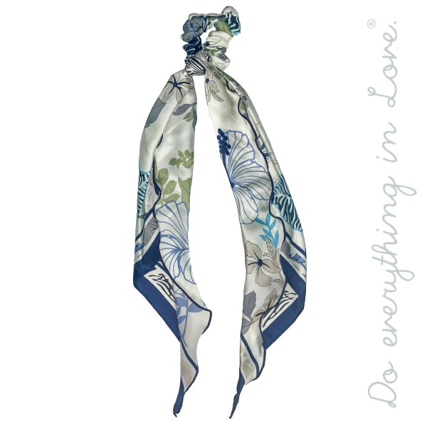 "Do everything in Love Brand Silky Floral Mix Print Hair Scarf.  - One size - Approximately 18"" L - 100% Polyester"
