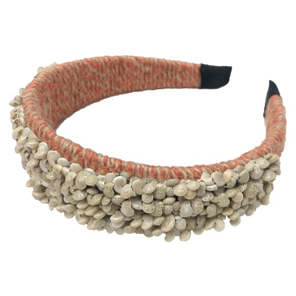 Do everything in Love Brand Two Tone Twine Woven Seashell Headband.  - One size fits most