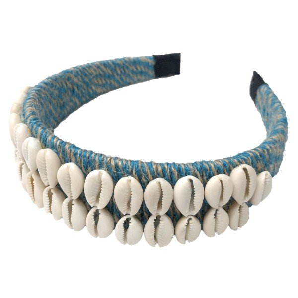 Do everything in Love Brand Two Tone Twine Woven Puka Shell Headband.  - One size fits most