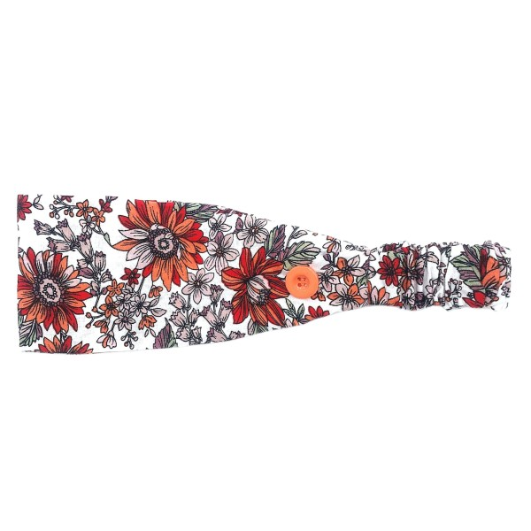 Do everything in Love Brand Vintage Floral Face Mask Fashion Button Headwrap.  - Side Buttons to Secure Face Mask - Elastic Band - One size fits most - 100% Polyester