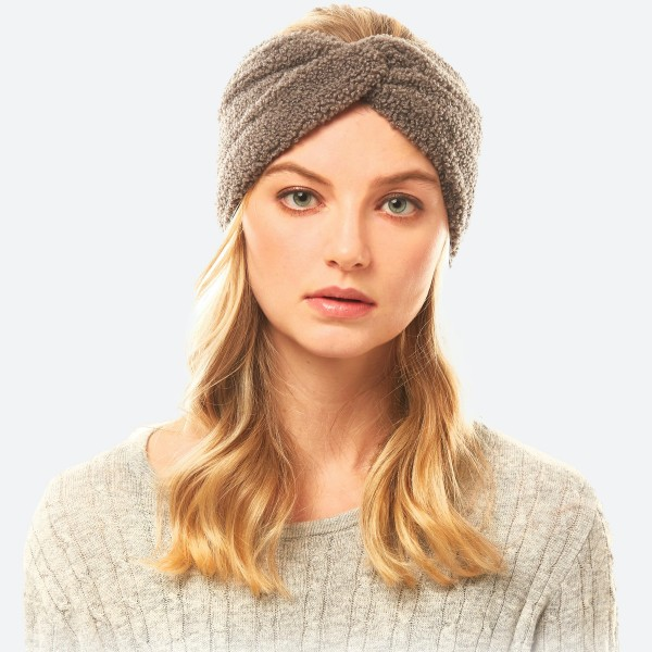 Wholesale sherpa Fleece Headwrap One fits most Polyester