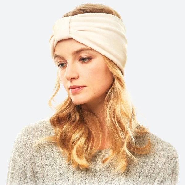 Wholesale velour Bow Stretch Headband One fits most Polyester