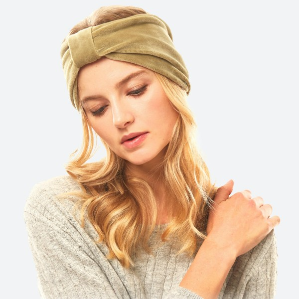 """Velvet Bow Stretch Headband.  - One size fits most - Approximately 5"""" in Width - 100% Polyester"""