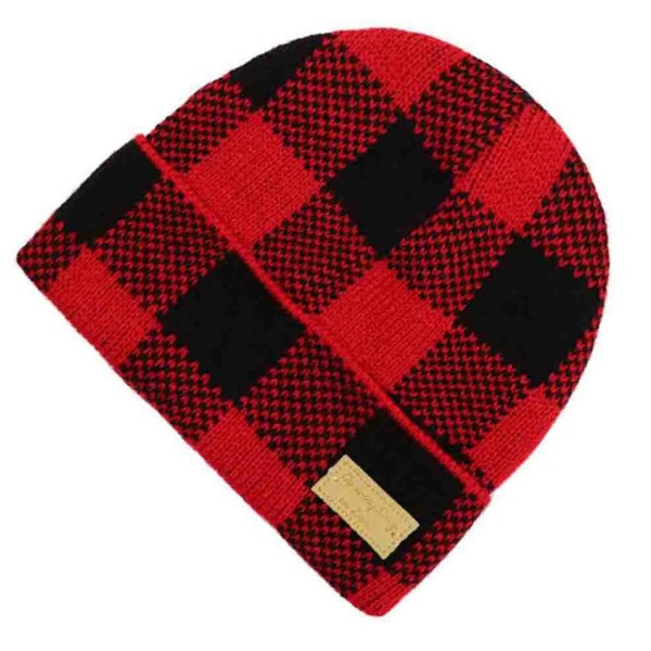 Do everything in Love Brand Buffalo Check Knit Beanie.  - One size fits most  - 100% Acrylic