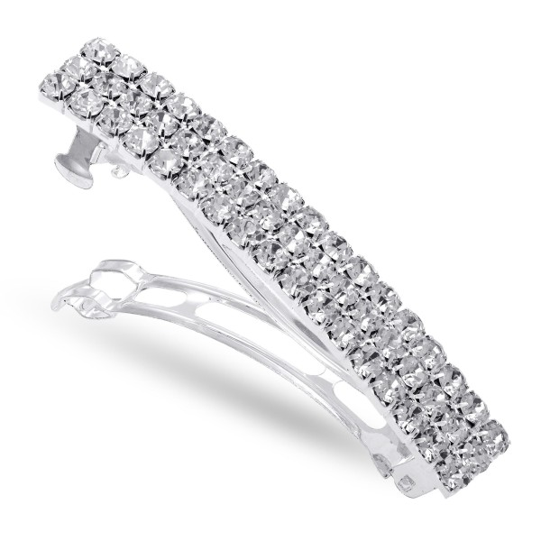 "Rhinestone Hair Barrette Clip.  - Approximately 2.5"" in Length - Approximately 10mm in Wide"