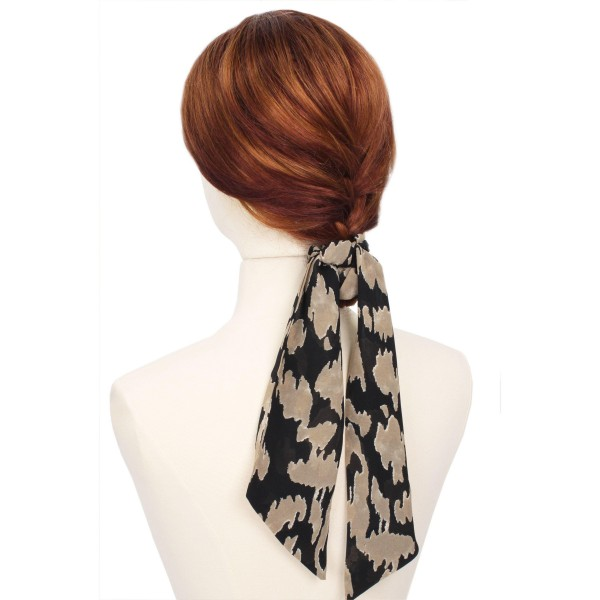 """Ladies Animal Print Hair Scarf.  - Approximately 13"""" L - 100% Polyester"""