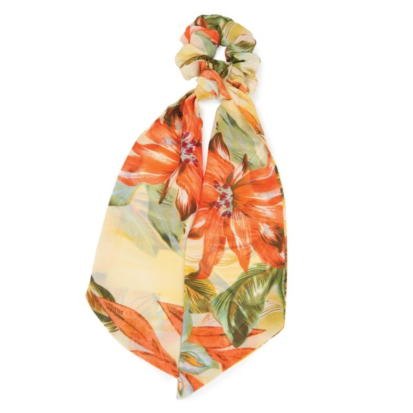 """Ladies Tropical Print Hair Scarf.  - Approximately 12"""" L - 100% Polyester"""