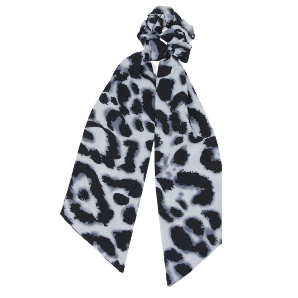 """Ladies Leopard Print Hair Scarf.  - Approximately 12"""" L  - 100% Polyester"""