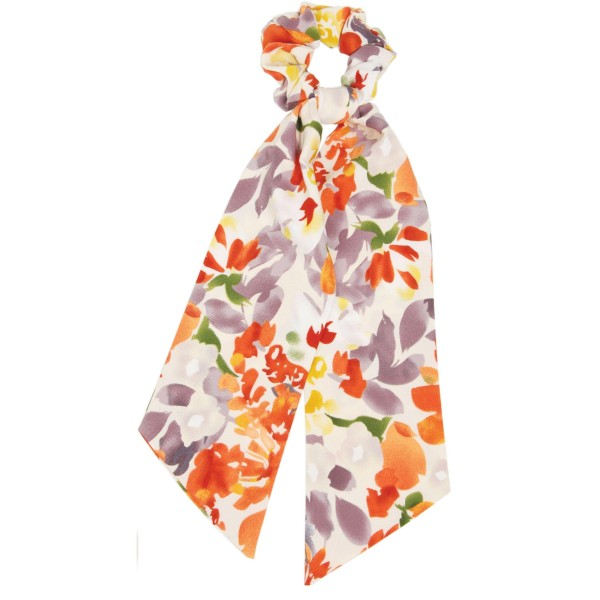 "Ladies Floral Print Hair Scarf.  - Approximately 13"" L - 100% Polyester"