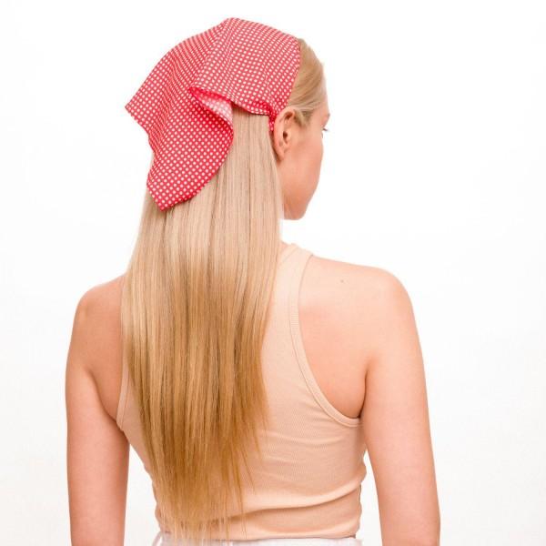 "Ladies Polka Dot Hair Scarf Headband.  - Elastic Headband  - Approximately 13"" in Length - 100% Polyester"