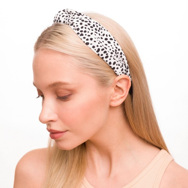 Ladies Animal Print Knotted Headband.  - One size fits most  - 100% Polyester