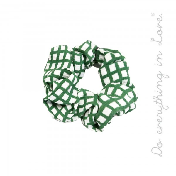 Do everything in Love Brand Checkered Hair Scrunchie.  - One size  - 100% Polyester