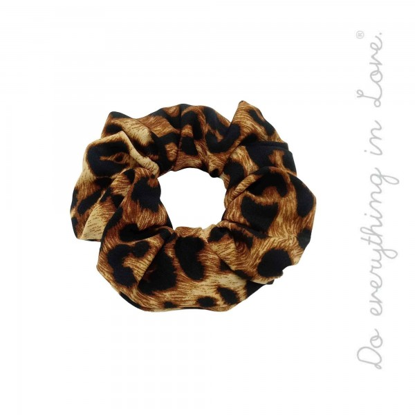 Do everything in Love Brand Leopard Print Hair Scrunchie.  - 100% Polyester
