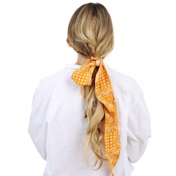 "Ladies Printed Hair Scarf.   - Approximately 18"" in Length"