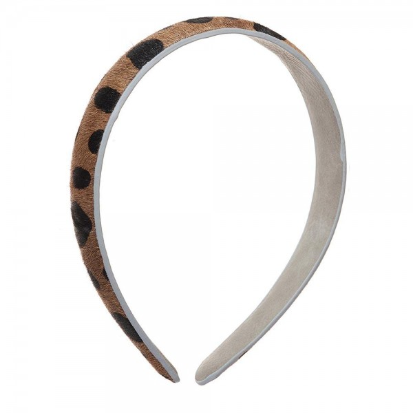 Ladies Genuine Leather Animal Print Headband.   - One Size Fits Most