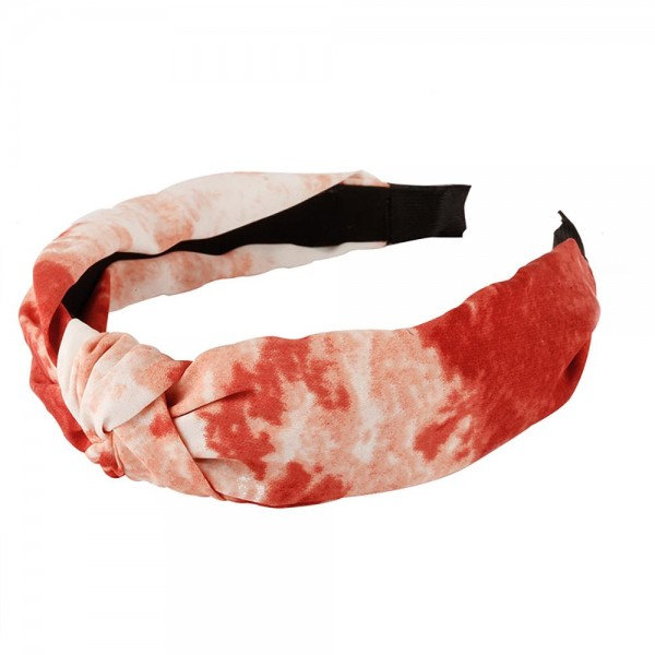 Tie Dye Headband Featuring Knotted Detail.   - One Size Fits Most.