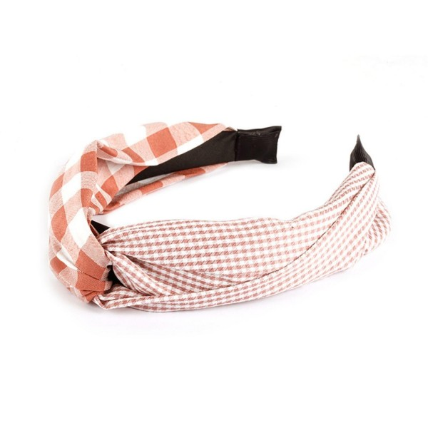 Checkered and Plaid Headband Featuring Knotted Detail.   - One Size Fits Most