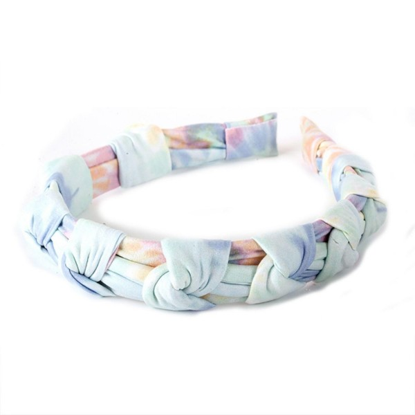 Tie-Dye Headband Featuring Knotted Accents.