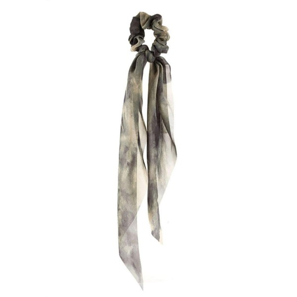 """Tie Dye Ponytail Scarf.   - One Size  - Approximately 12"""" in Length"""