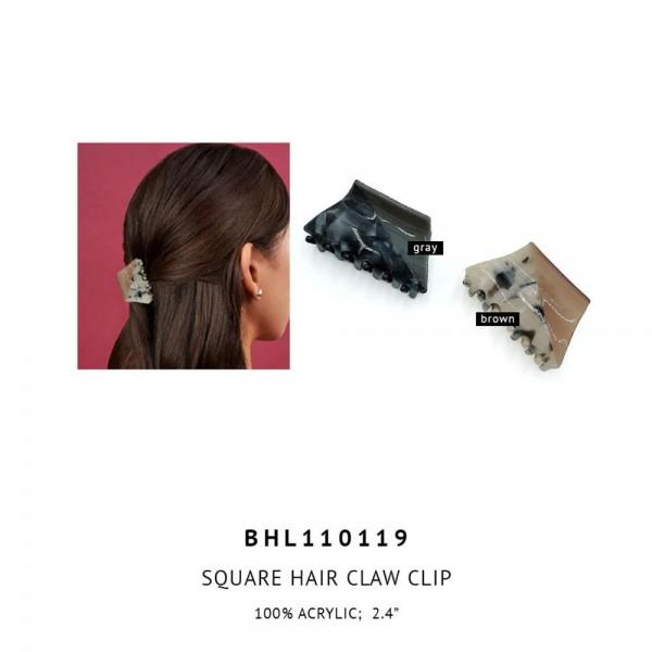 "Acrylic Claw Hair Clip.  - 100% Acrylic - Approximately 2.4"" Long"