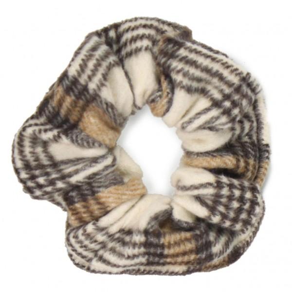 Ladies plaid hair scrunchie.